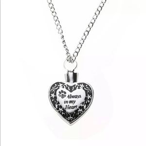 Cremation necklace ashes vial always in my heart